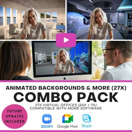 COMBO Pack - Virtual Backgrounds
